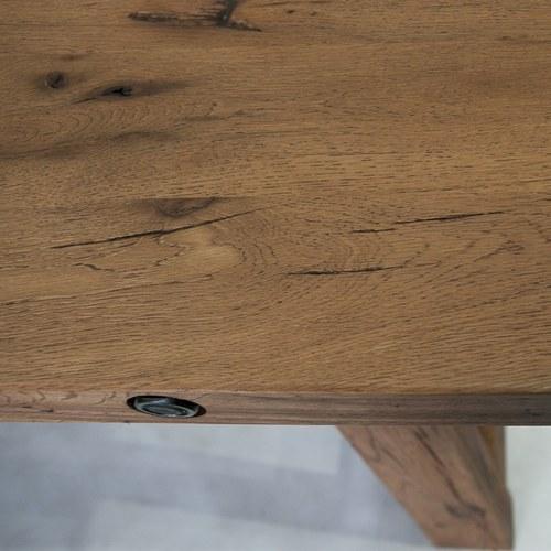 荷蘭PURE 梯形支架橡木長桌 (棕、長180公分)