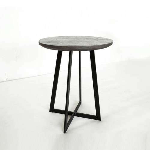 荷蘭PURE 工業風橡木圓形邊桌 (棕、直徑46公分)