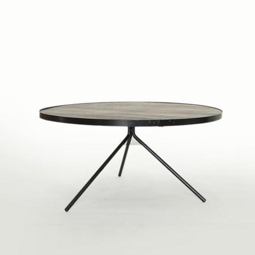 荷蘭PURE 極簡工業風圓形邊桌 (黑、直徑75公分)