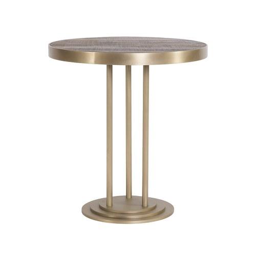 荷蘭PURE 金屬框圓形咖啡桌 (黃銅、直徑70公分)