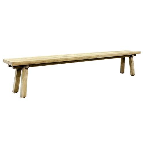 荷蘭Woven+戶外家具 原木長椅凳