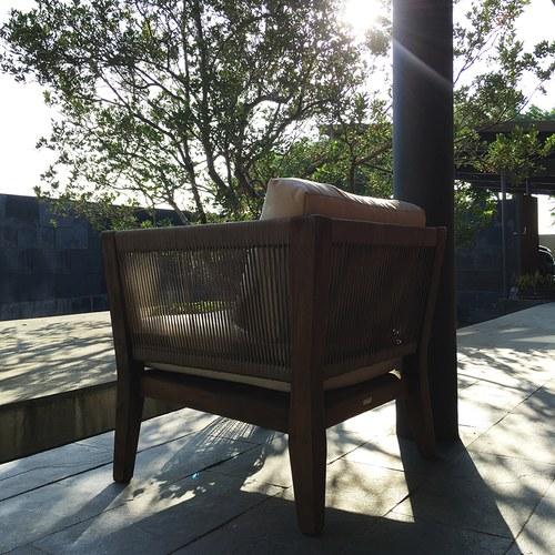 荷蘭Woven+戶外家具 俐落線條單人沙發