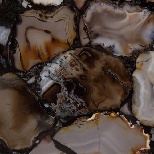荷蘭Zuiver瑪瑙石玻璃邊桌