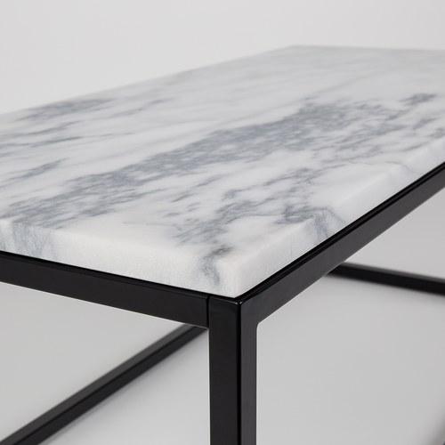 荷蘭Zuiver方形白色大理石咖啡桌(長90公分)