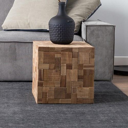 荷蘭Zuiver原木馬賽克方形邊桌
