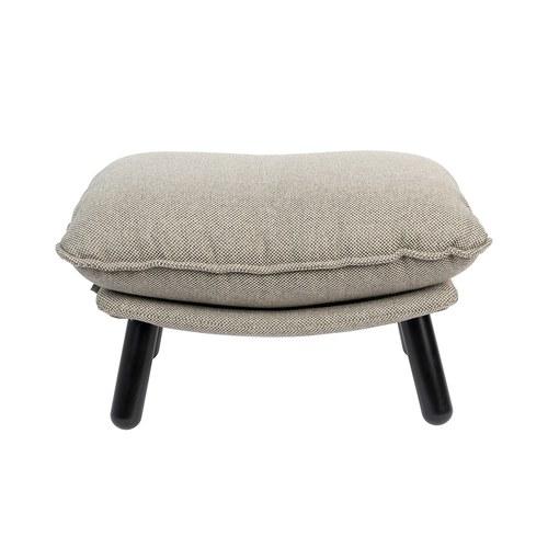 荷蘭Zuiver慵懶布面休閒椅凳(灰)