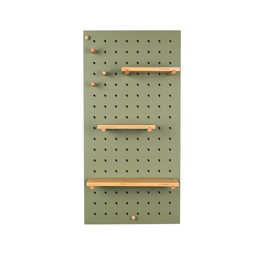 荷蘭Zuiver北歐風收納壁板層架組(綠)