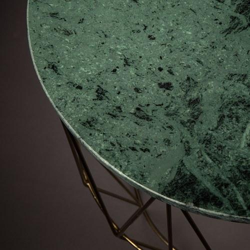 荷蘭Zuiver大理石鳥籠造型邊桌(綠)