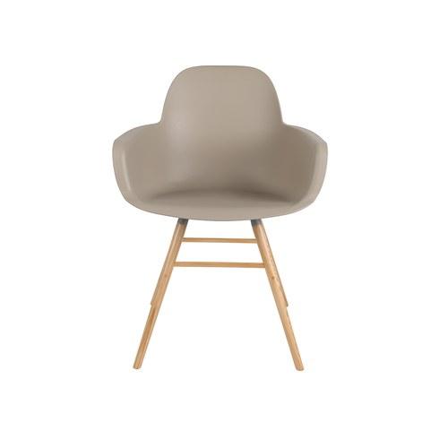 荷蘭Zuiver艾伯特簡約弧形扶手單椅(卡其)