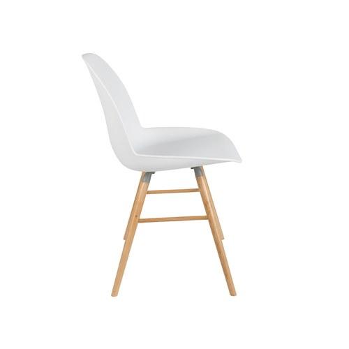 荷蘭Zuiver艾伯特簡約弧形單椅(白)
