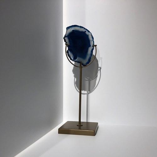 荷蘭Zuiver瑪瑙石藝術燭台(藍)
