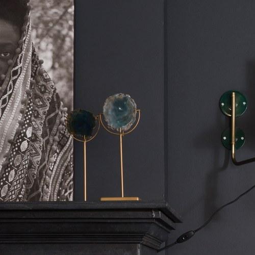 荷蘭Zuiver瑪瑙石藝術燭台(綠)