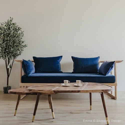 荷蘭Zuiver三角形原木咖啡桌2入組