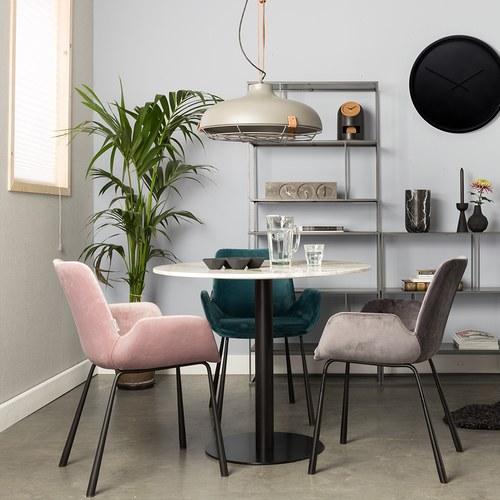 荷蘭Zuiver 英式線條扶手椅(粉)