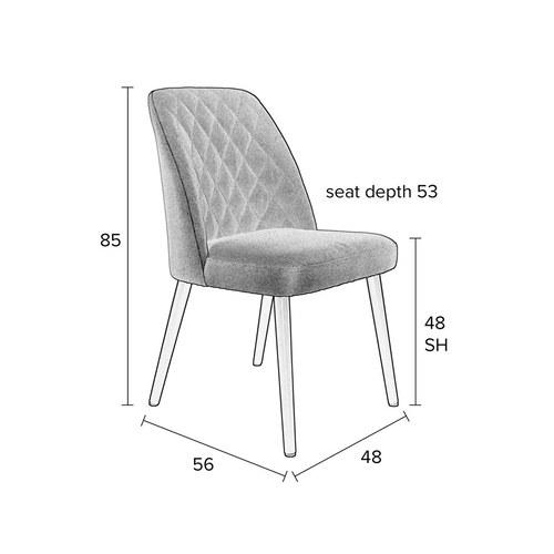 荷蘭Zuiver 簡約菱格紋單椅(深灰)