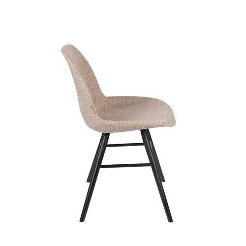 荷蘭Zuiver艾伯特簡約弧形布面單椅(卡其)