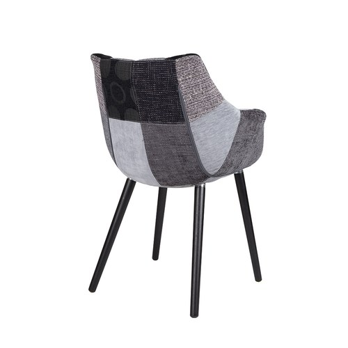 荷蘭Zuiver 花布拼接扶手椅(灰)