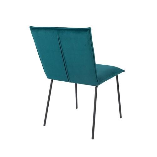 荷蘭Zuiver 優雅斜邊靠背絨布餐椅(湖水藍)