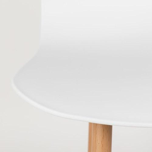 荷蘭Zuiver 刻花壓紋曲面單椅(白)