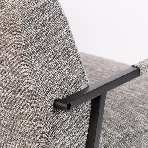 荷蘭Zuiver 線條感布面舒適休閒椅