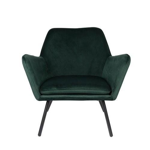 荷蘭Zuiver 輕奢感絨布蝶型扶手椅(深綠)