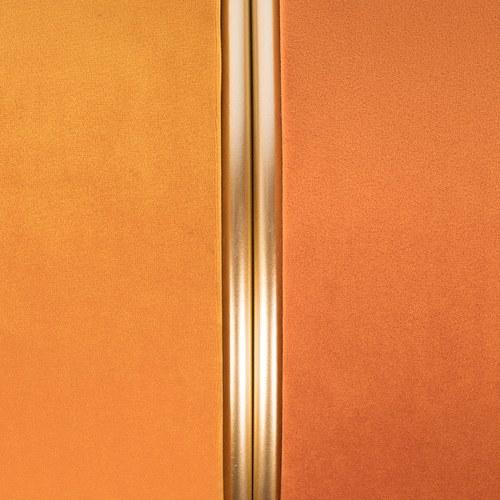 荷蘭Zuiver 輕奢糖果色絨布金屬拉環腳凳(太陽黃)