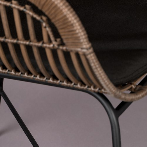 荷蘭Zuiver 藤編附墊戶外用扶手椅