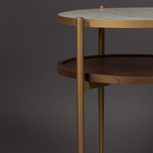 荷蘭Zuiver 陶瓷面雙層收納邊桌
