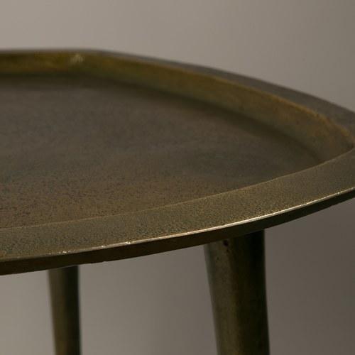 荷蘭Zuiver 古董市集仿舊感黃銅邊桌