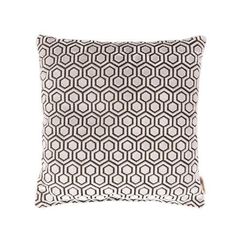 荷蘭Zuiver 連續幾何六角圖紋抱枕(灰白)