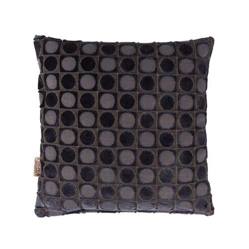 荷蘭Zuiver 連續幾何六角圖紋抱枕(灰黑)