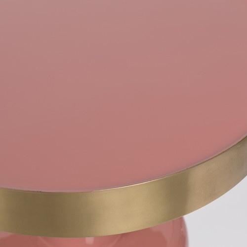 荷蘭Zuiver 鑲金圈膠囊顆粒造型邊桌(粉)