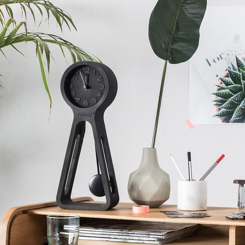 荷蘭Zuiver 極簡品味水泥款立鐘 (黑、高38公分)