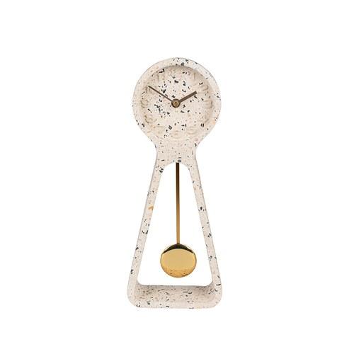 荷蘭Zuiver 極簡品味水磨石款立鐘 (高38公分)