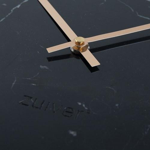 荷蘭Zuiver 天然大理石牆面掛鐘(黑)