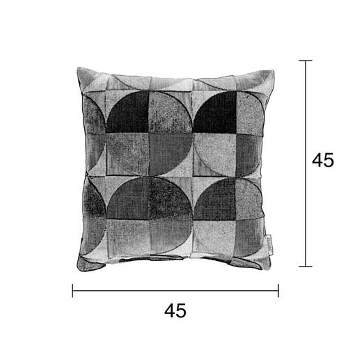 荷蘭Zuiver 環狀落日幾何色塊抱枕
