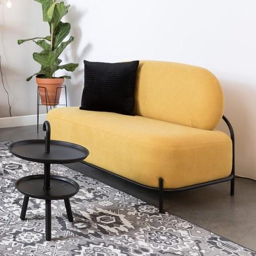 荷蘭Zuiver 泡芙軟墊休閒雙人沙發(黃)