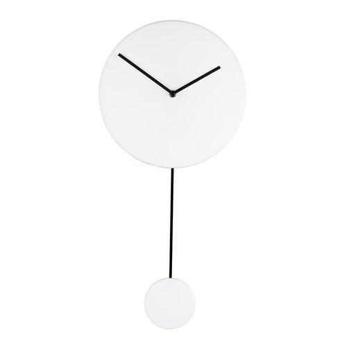 荷蘭Zuiver 泥作感牆面簡約素色掛鐘(白)