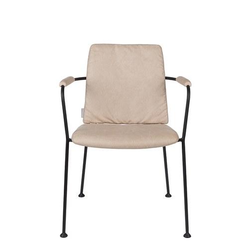 荷蘭Zuiver 金屬窗格透氣洞洞扶手椅 (卡其)