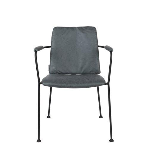 荷蘭Zuiver 金屬窗格透氣洞洞扶手椅 (灰藍)