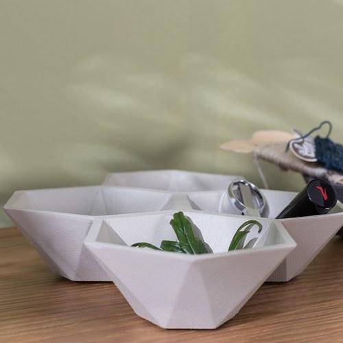 荷蘭Zuiver 立體六角多面切割置物托盤 (米)
