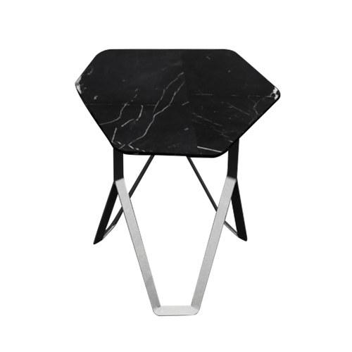 泰國Galvanii Chamfer大理石邊桌 (黑)
