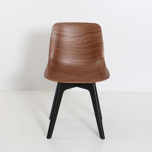 泰國HDK 交叉椅腳曲木椅 (深棕)