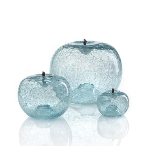 德國BULL&STEIN 藍晶玻璃蘋果擺飾 (直徑40公分)