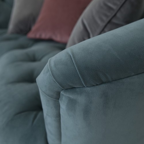 英國Alexander&James英倫古典奢華手工圓弧雙人沙發 湖水綠天鵝絨