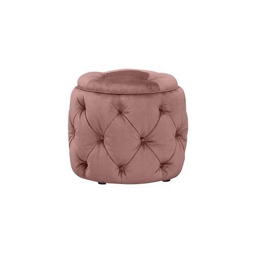 英國Alexander&James 英倫古典手工圓形腳凳 (薔薇粉)