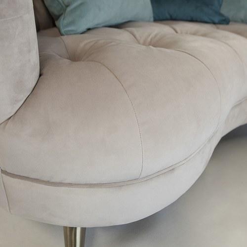 英國Alexander&James 天鵝絨圓弧雙人沙發 (爵士銀)