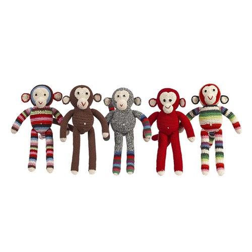 荷蘭ACP 條紋襪猴子玩偶