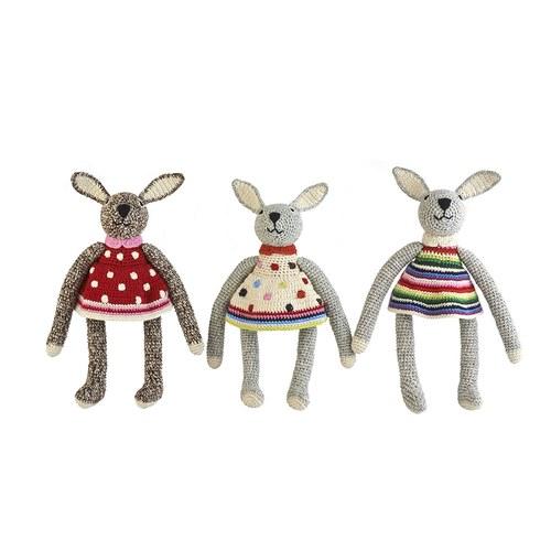 荷蘭ACP 白底小洋裝兔子玩偶