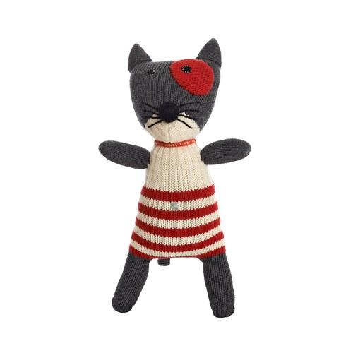 荷蘭ACP 條紋衣黑貓咪玩偶